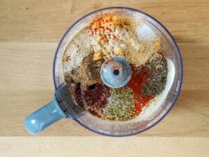 Mix przypraw z grochem przed dodaniem glutenu